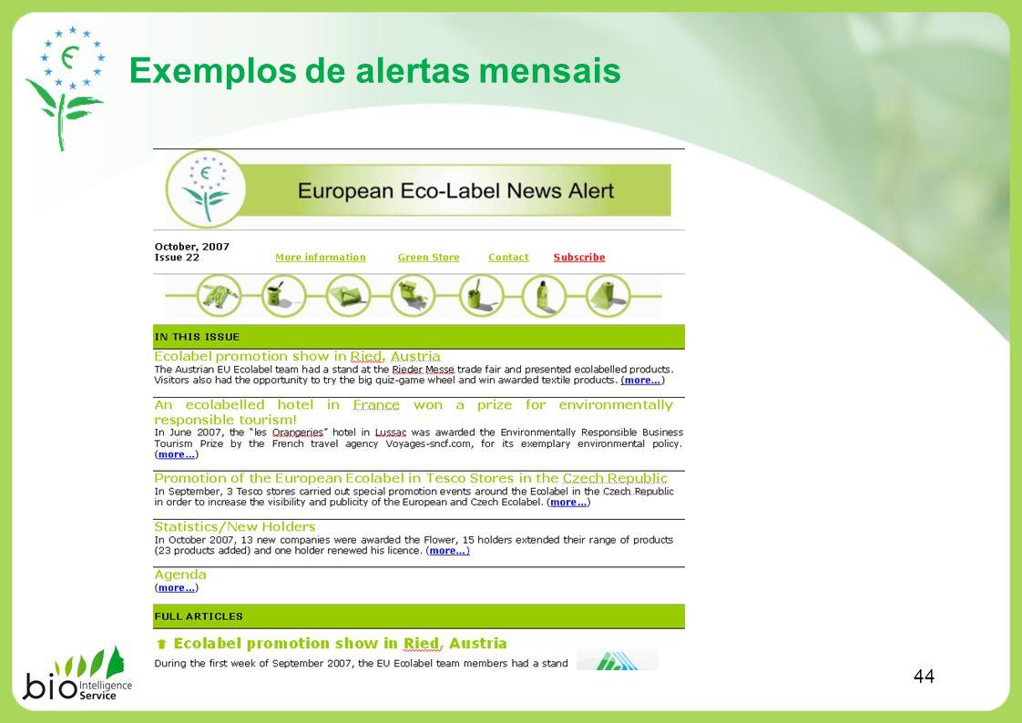 Exemplos de alertas mensais 44