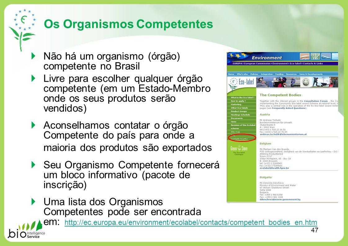 Os Organismos Competentes Não há um organismo (órgão) competente no Brasil Livre para escolher qualquer órgão competente (em um Estado-Membro onde os