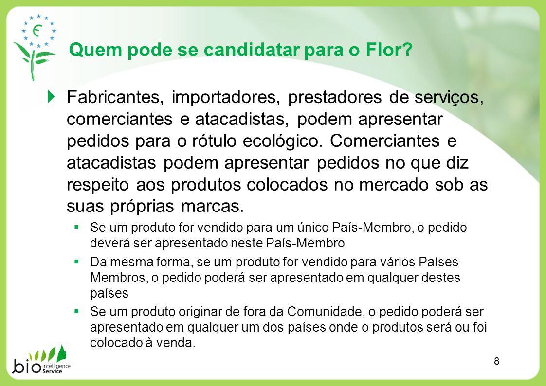 Quem pode se candidatar para o Flor? Fabricantes, importadores, prestadores de serviços, comerciantes e atacadistas, podem apresentar pedidos para o r