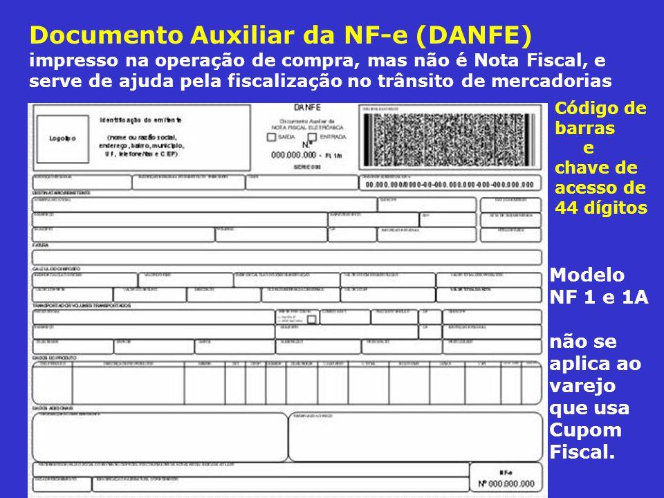 Documento Auxiliar da NF-e (DANFE) impresso na operação de compra, mas não é Nota Fiscal, e serve de ajuda pela fiscalização no trânsito de mercadoria
