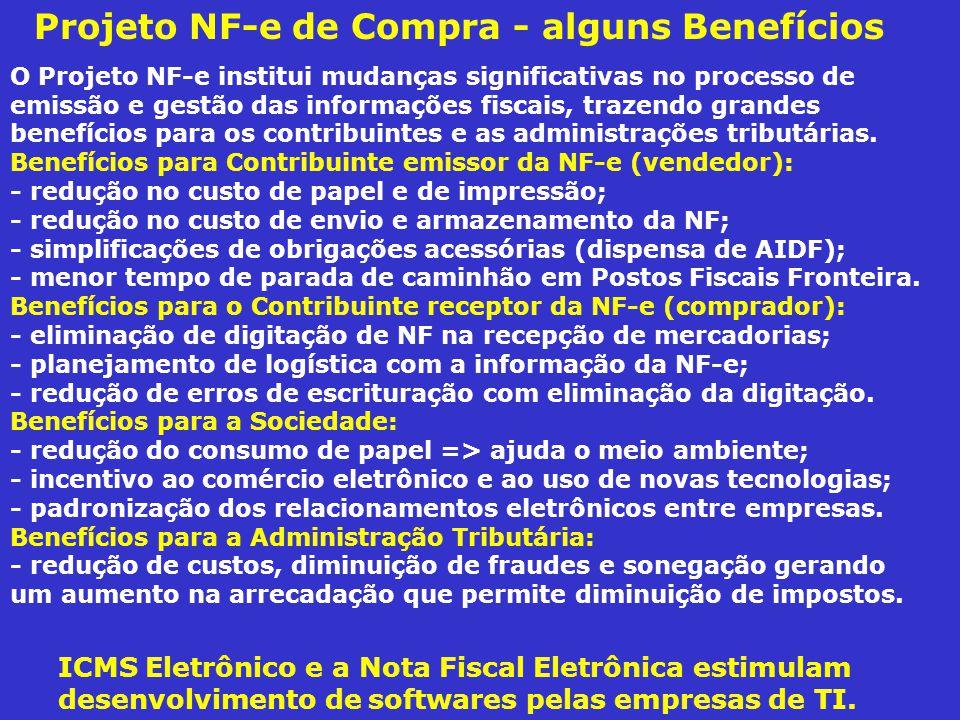 O Projeto NF-e institui mudanças significativas no processo de emissão e gestão das informações fiscais, trazendo grandes benefícios para os contribui