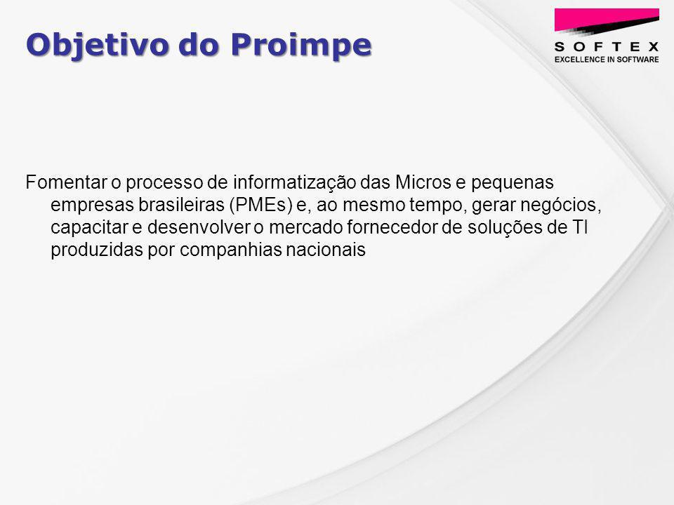 Proposta do PROIMPE para a MPE INCLUSÃO DIGITAL - MPE GANHO DE PRODUTIVIDADE E REDUÇÃO DE CUSTOS AUMENTO DA COMPETITIVIDADE