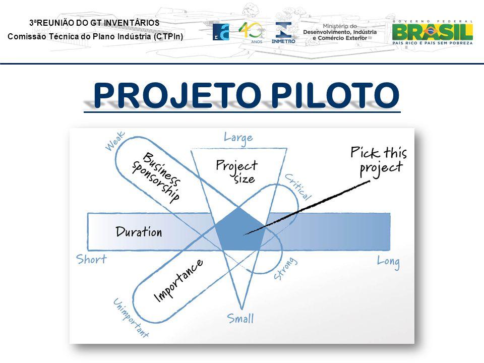 3ªREUNIÃO DO GT INVENTÁRIOS Comissão Técnica do Plano Indústria (CTPIn) PROJETO PILOTO PROJETO PILOTO