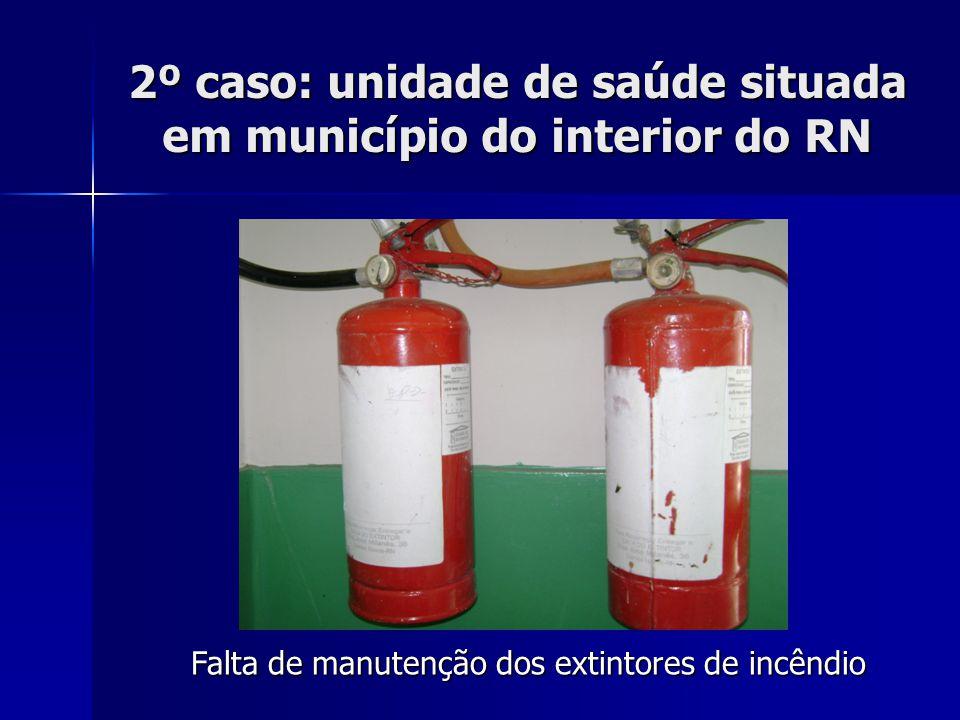 2º caso: unidade de saúde situada em município do interior do RN Deterioração da máquina de lavar