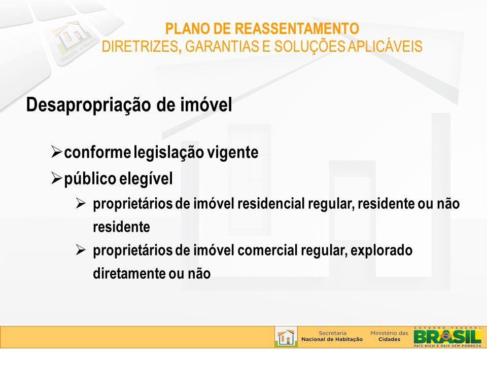 Desapropriação de imóvel conforme legislação vigente público elegível proprietários de imóvel residencial regular, residente ou não residente propriet