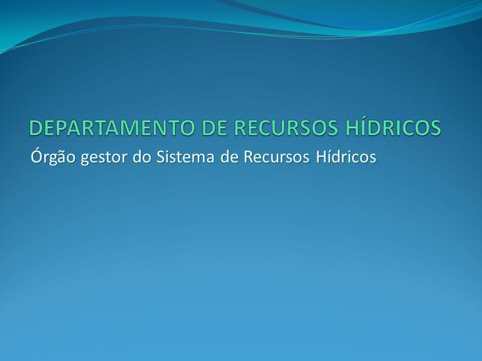 Órgão gestor do Sistema de Recursos Hídricos