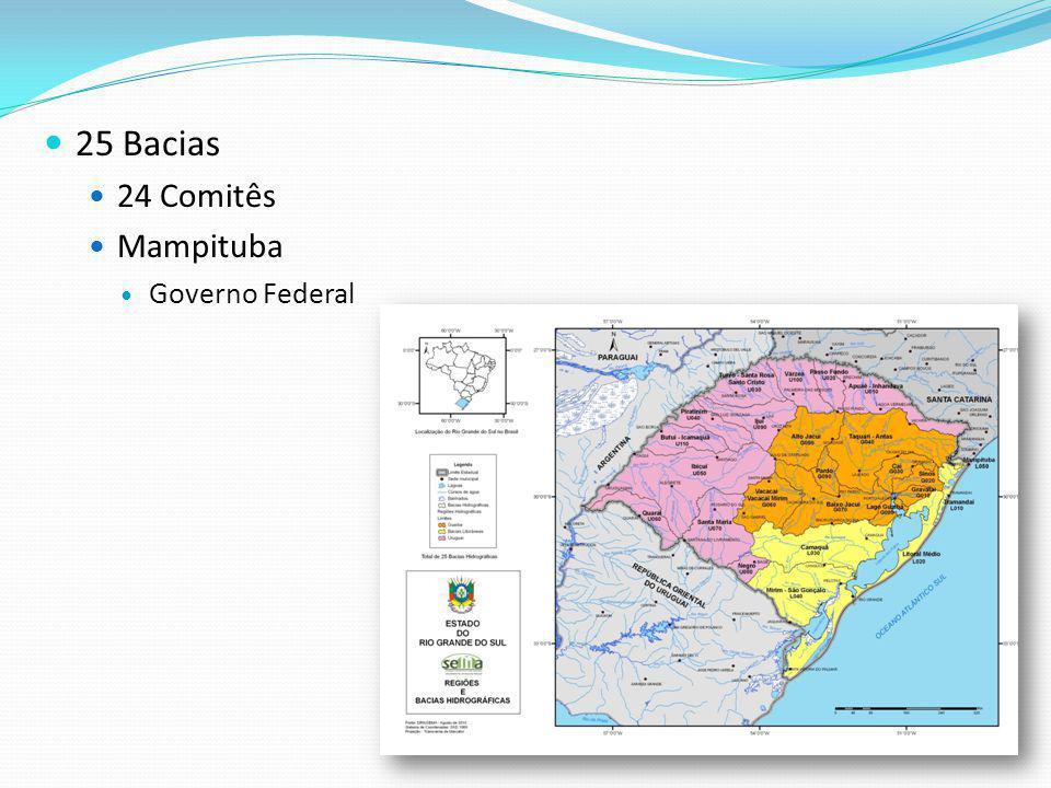 25 Bacias 24 Comitês Mampituba Governo Federal