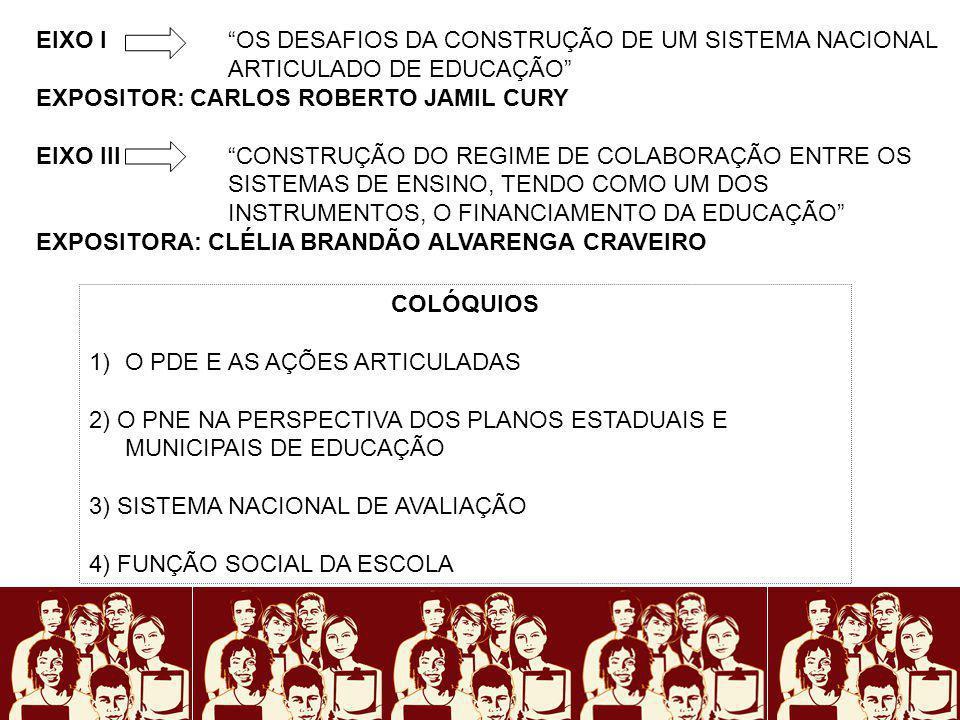 EIXO I OS DESAFIOS DA CONSTRUÇÃO DE UM SISTEMA NACIONAL ARTICULADO DE EDUCAÇÃO EXPOSITOR: CARLOS ROBERTO JAMIL CURY EIXO IIICONSTRUÇÃO DO REGIME DE CO