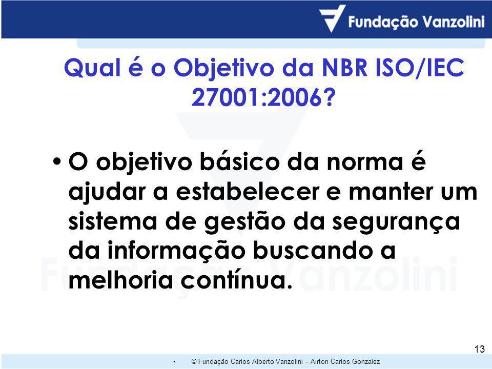 © Fundação Carlos Alberto Vanzolini – Airton Carlos Gonzalez 12 Requisitos de Controles para o Regulamento GoodPrivacy Controles de Admissão Controles