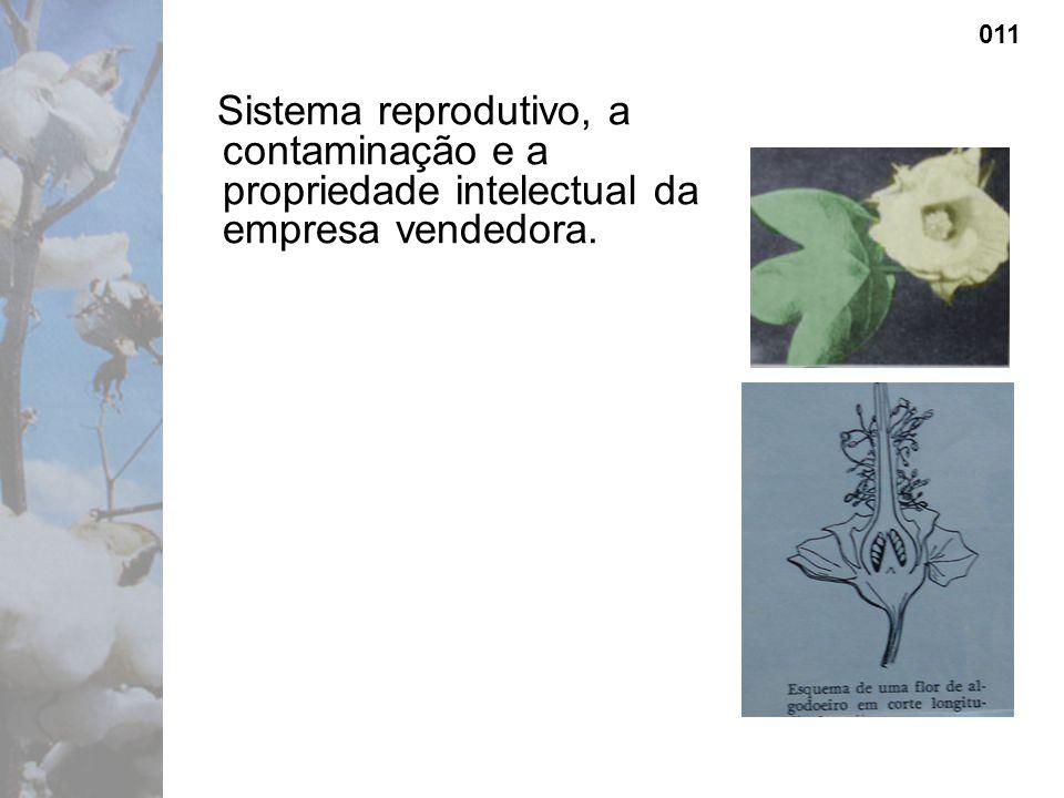 Sistema reprodutivo, a contaminação e a propriedade intelectual da empresa vendedora. 011