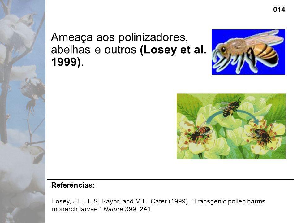 Ameaça aos polinizadores, abelhas e outros (Losey et al.