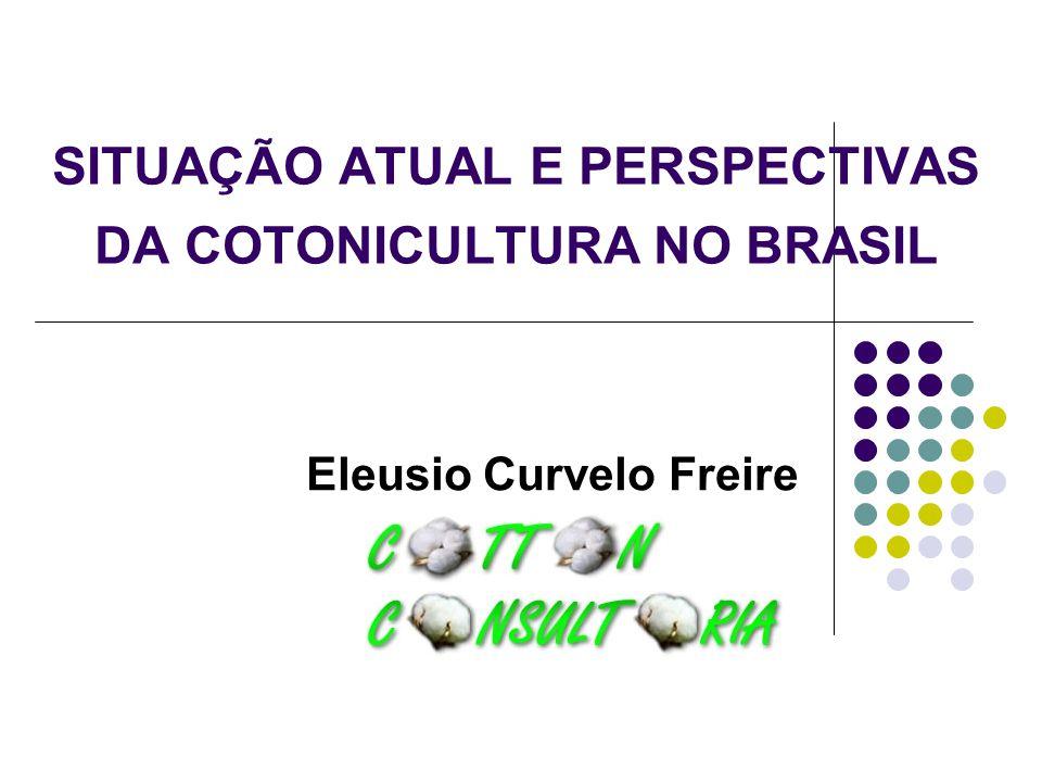 SITUAÇÃO ATUAL E PERSPECTIVAS DA COTONICULTURA NO BRASIL Eleusio Curvelo Freire