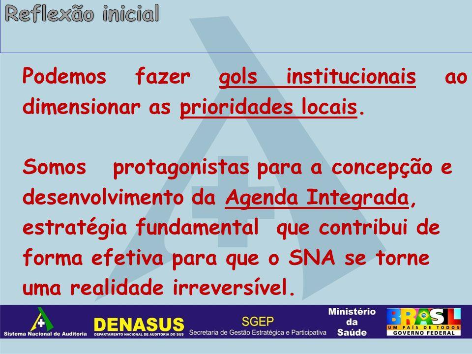 Emenda Constitucional 29 – Prioridade estabelecida pela Direção do DENASUS.