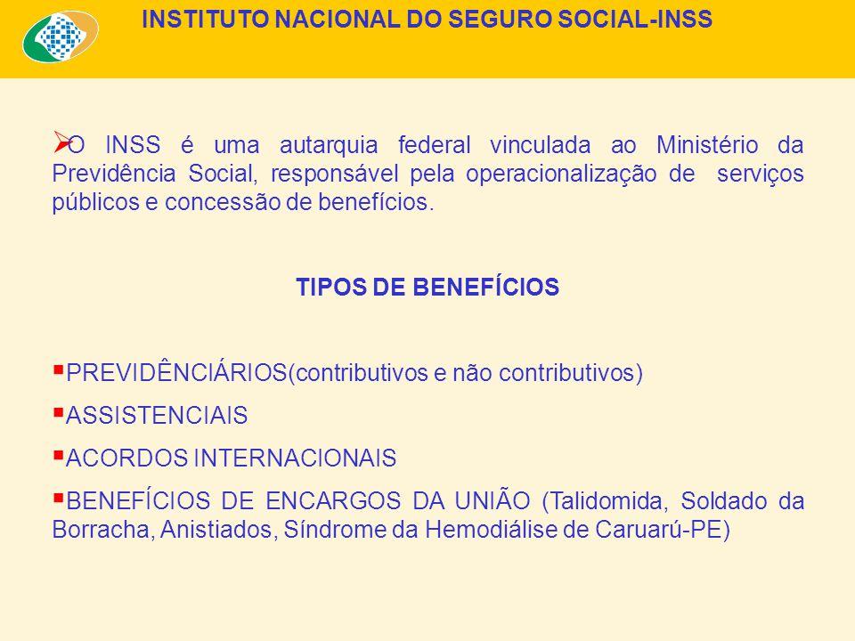 O INSS é uma autarquia federal vinculada ao Ministério da Previdência Social, responsável pela operacionalização de serviços públicos e concessão de benefícios.