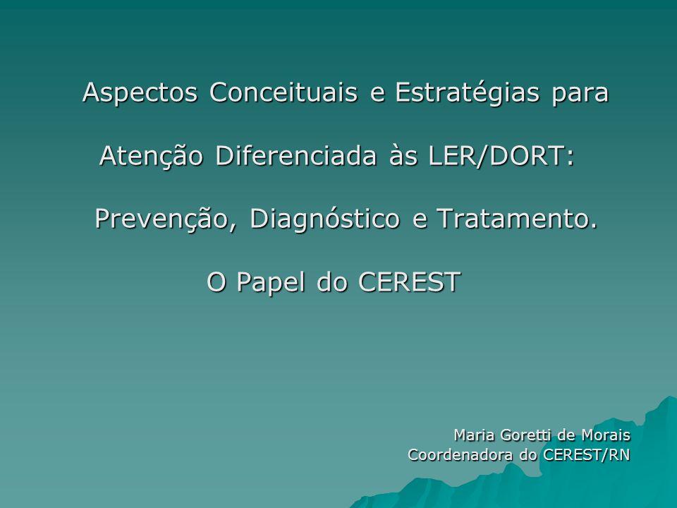 Aspectos Conceituais e Estratégias para Atenção Diferenciada às LER/DORT: Atenção Diferenciada às LER/DORT: Prevenção, Diagnóstico e Tratamento.