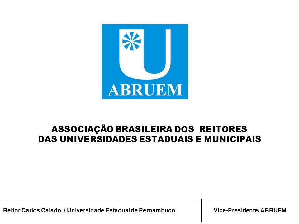 O Papel Estratégico das Universidades Estaduais e Municipais dentro do Sistema de Ensino Superior Fórum Nacional CONSECTI e CONFAP Gramado - RS Setembro 2012