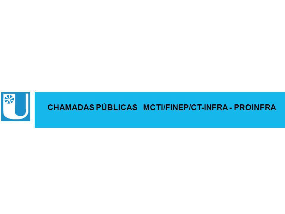 ABRUEM CHAMADAS PÚBLICAS MCTI/FINEP/CT-INFRA - PROINFRA
