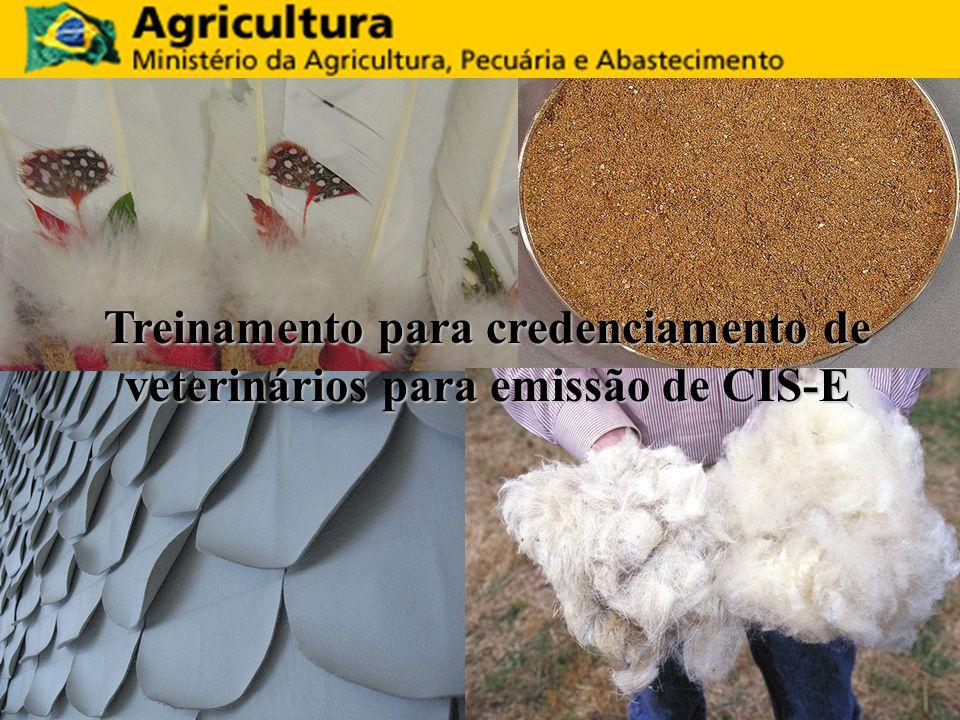 Treinamento para credenciamento de veterinários para emissão de CIS-E