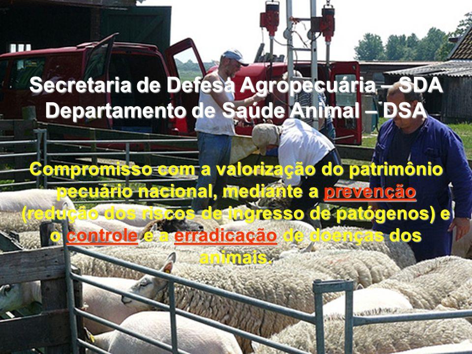 Compromisso com a valorização do patrimônio pecuário nacional, mediante a prevenção (redução dos riscos de ingresso de patógenos) e o controle e a err