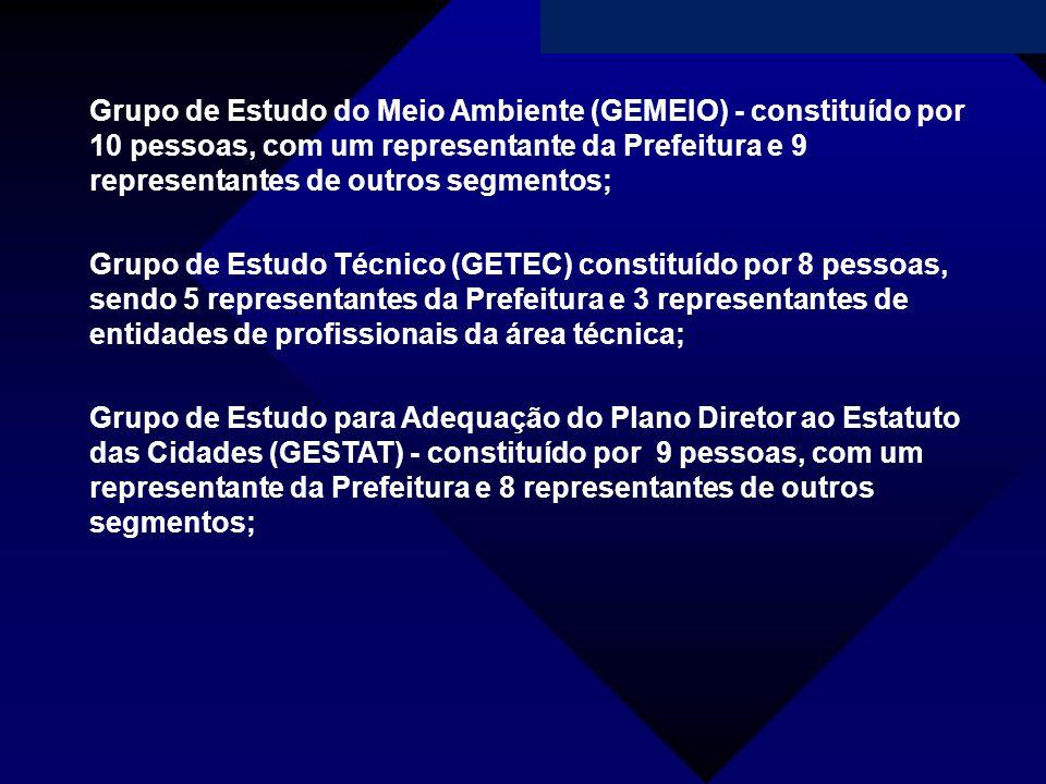 Campanha da Fraternidade 2011 Grupo de Estudo do Meio Ambiente (GEMEIO) - constituído por 10 pessoas, com um representante da Prefeitura e 9 represent