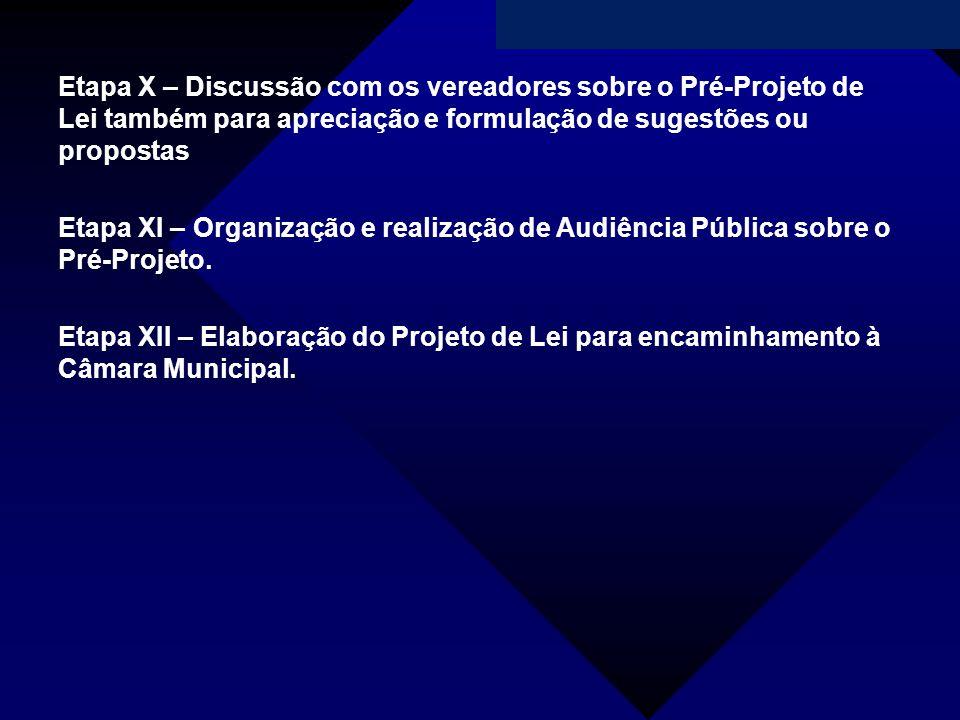 Campanha da Fraternidade 2011 Etapa X – Discussão com os vereadores sobre o Pré-Projeto de Lei também para apreciação e formulação de sugestões ou pro