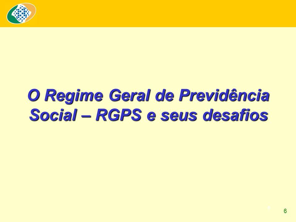 6 O Regime Geral de Previdência Social – RGPS e seus desafios 6
