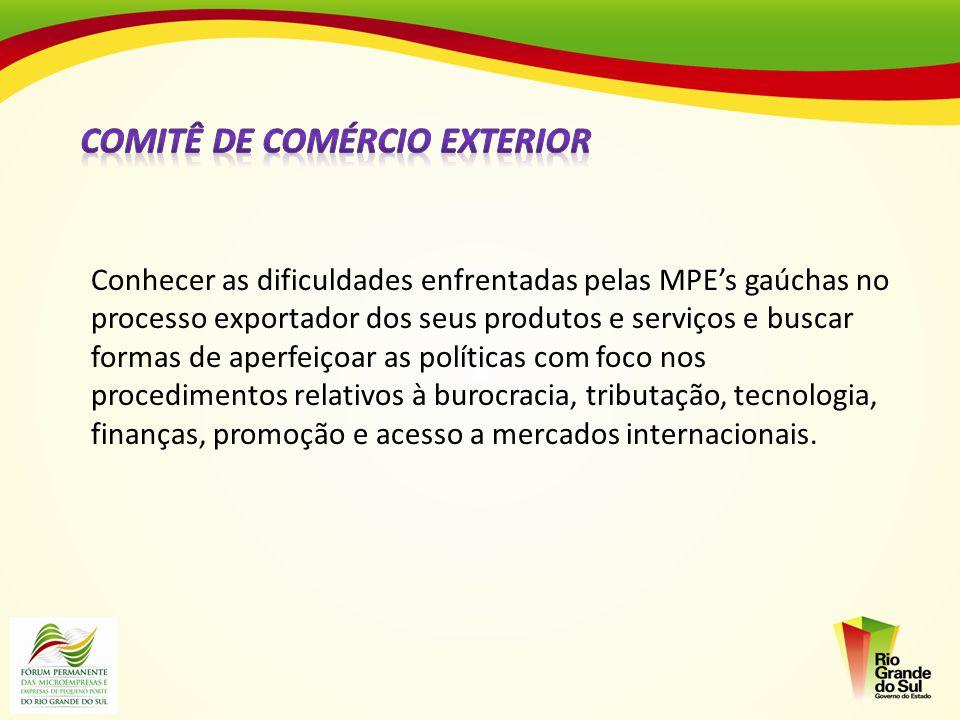 Conhecer as dificuldades enfrentadas pelas MPEs gaúchas no processo exportador dos seus produtos e serviços e buscar formas de aperfeiçoar as política