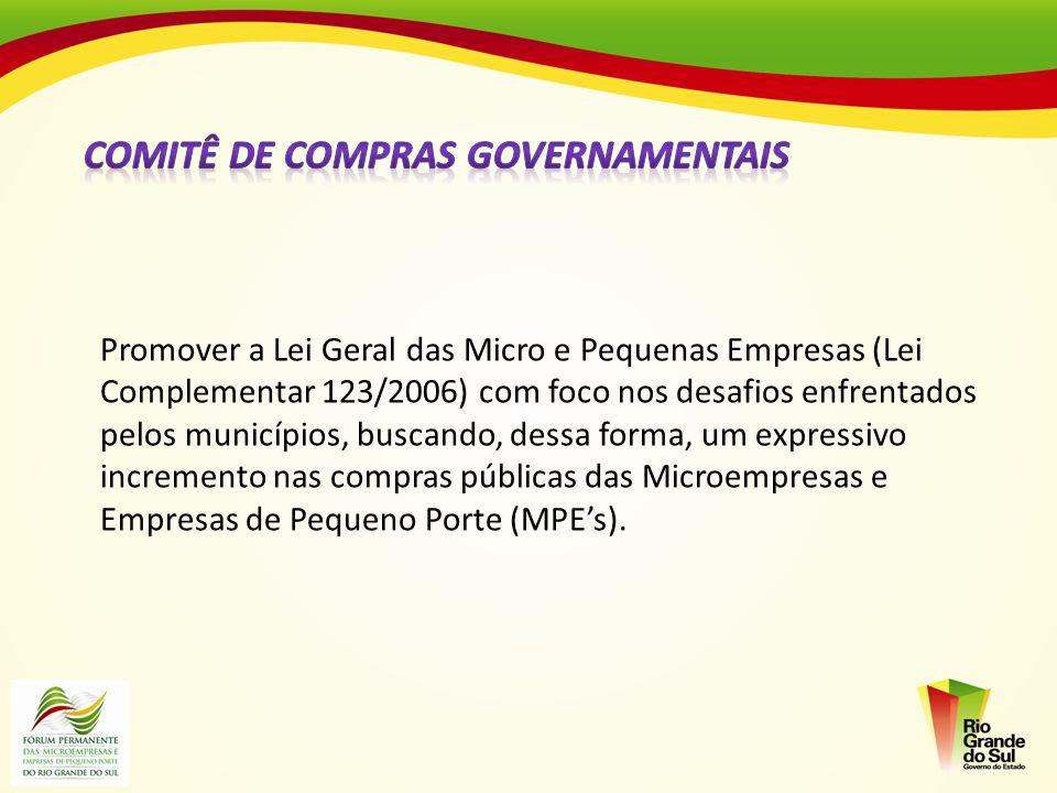 Promover a Lei Geral das Micro e Pequenas Empresas (Lei Complementar 123/2006) com foco nos desafios enfrentados pelos municípios, buscando, dessa for