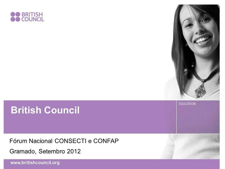 BUSINESS PLAN 2015 British Council Fórum Nacional CONSECTI e CONFAP Gramado, Setembro 2012