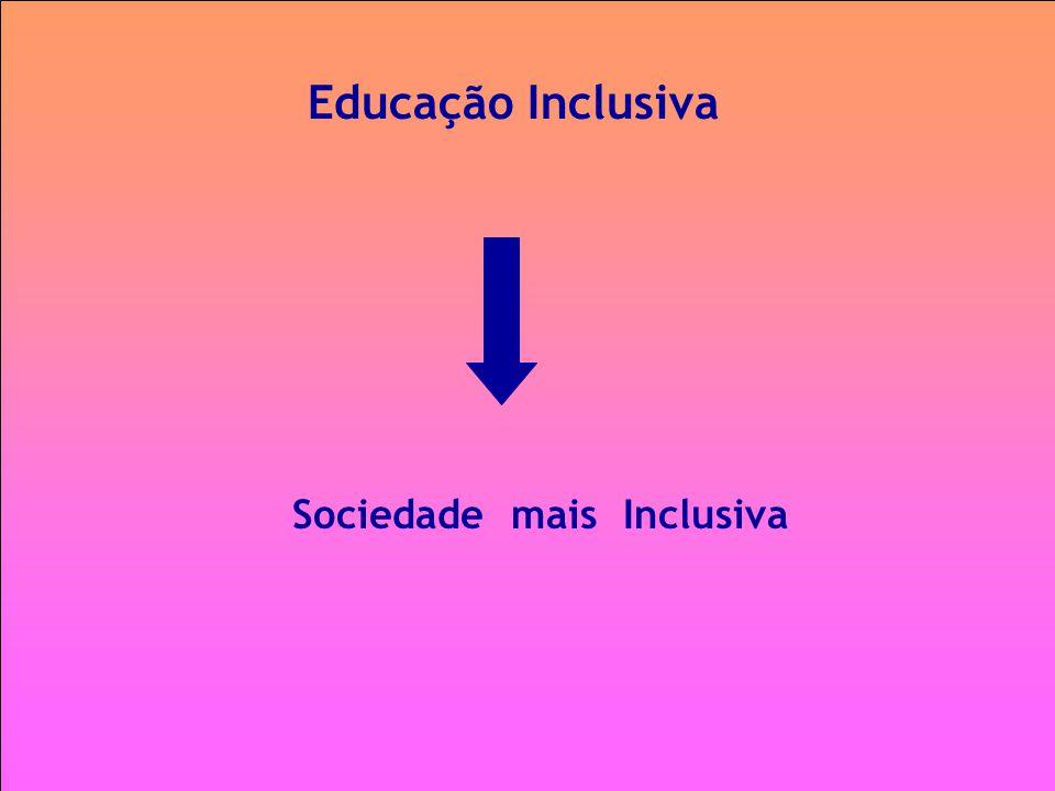 Educação Inclusiva Sociedade mais Inclusiva