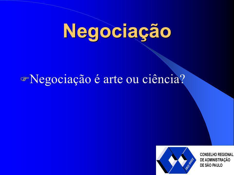 Negociação Negociação é arte ou ciência?
