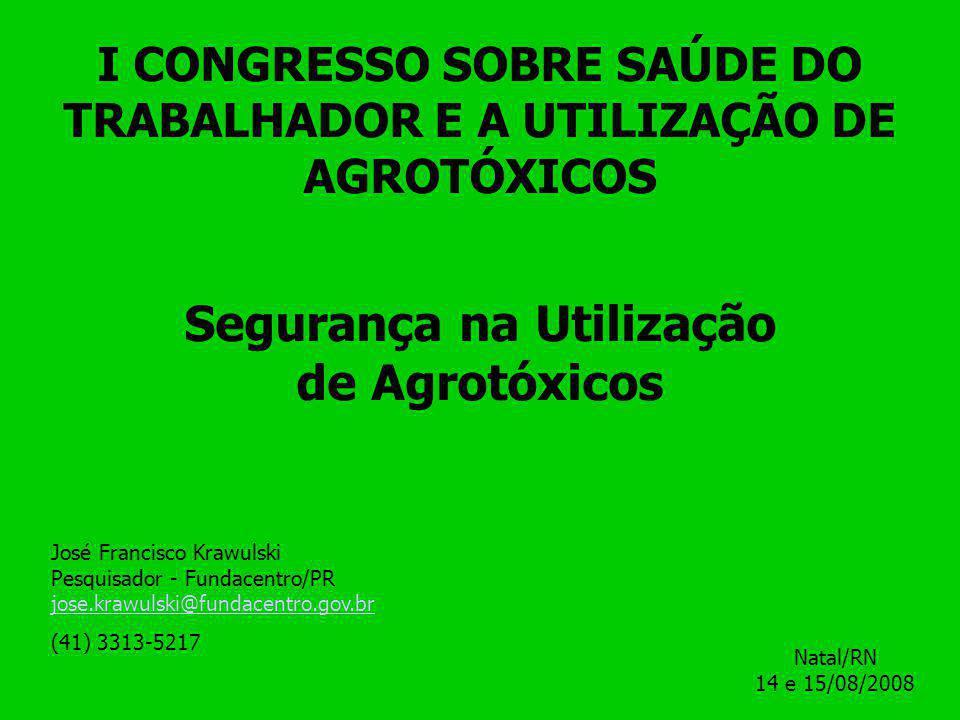 DIAGNÓSTICO DA EXPOSIÇÃO OCUPACIONAL A AGROTÓXICOS E AFINS (Usava proteção individual considerada adequada – 73 intoxicados) Fonte: adaptado de Krawulski et al.