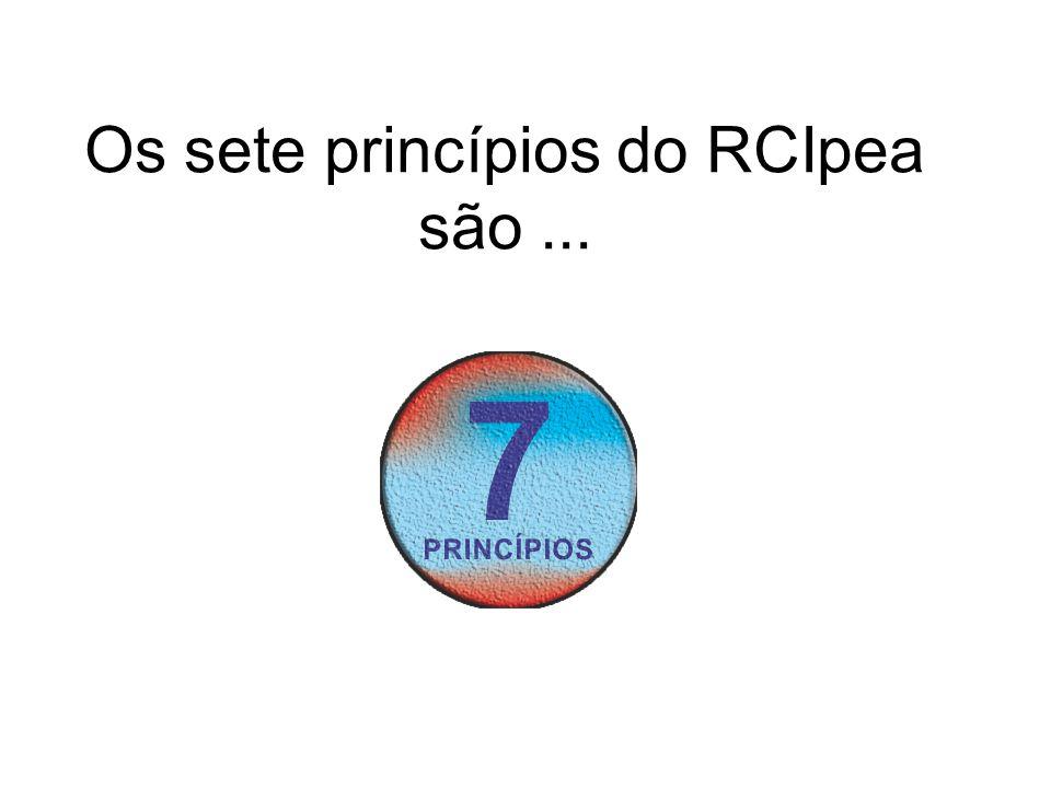 Os sete princípios do RCIpea são...