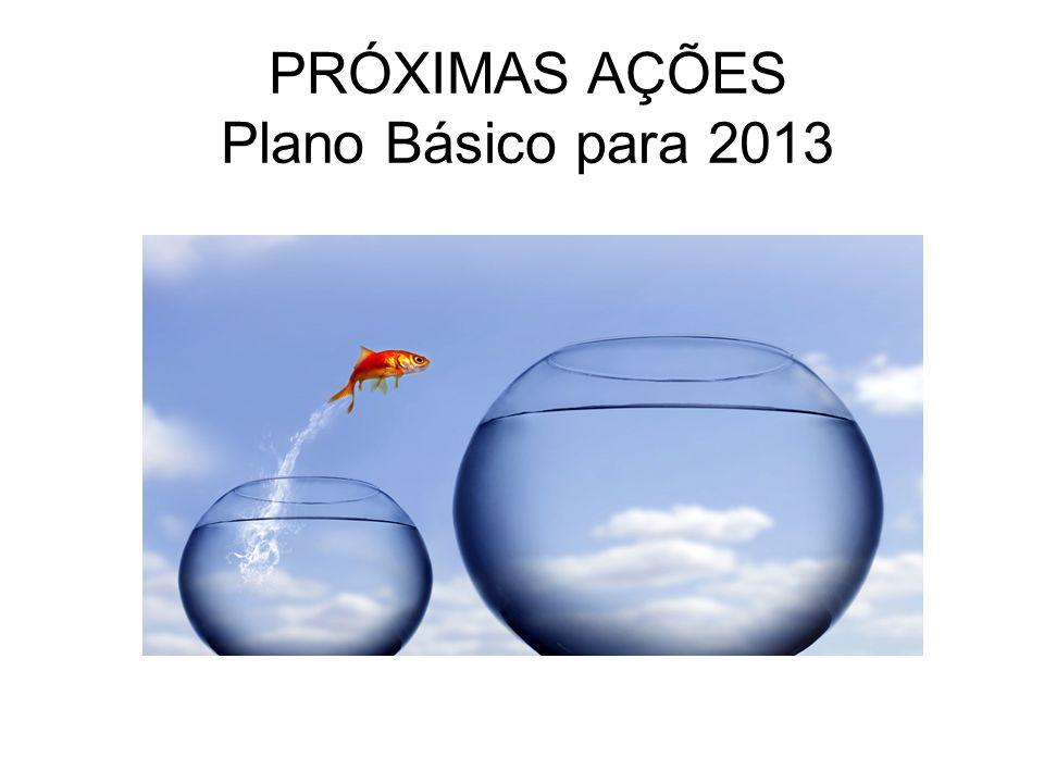PRÓXIMAS AÇÕES Plano Básico para 2013