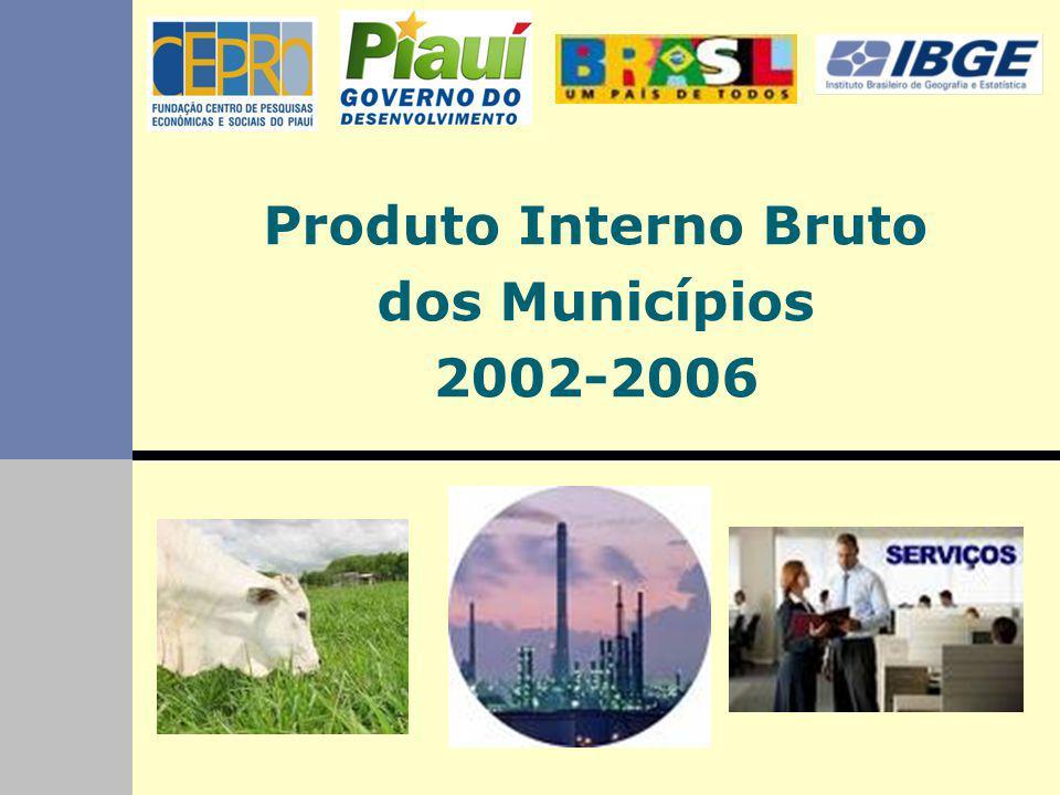 Produto Interno Bruto dos Municípios 2002-2006