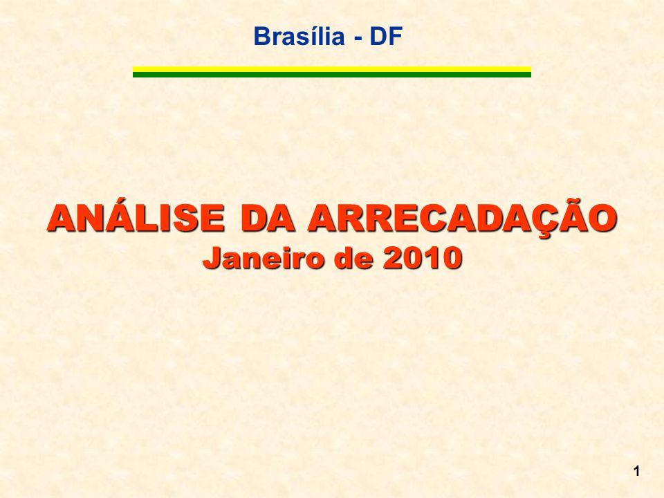 Brasília - DF 1 ANÁLISE DA ARRECADAÇÃO Janeiro de 2010