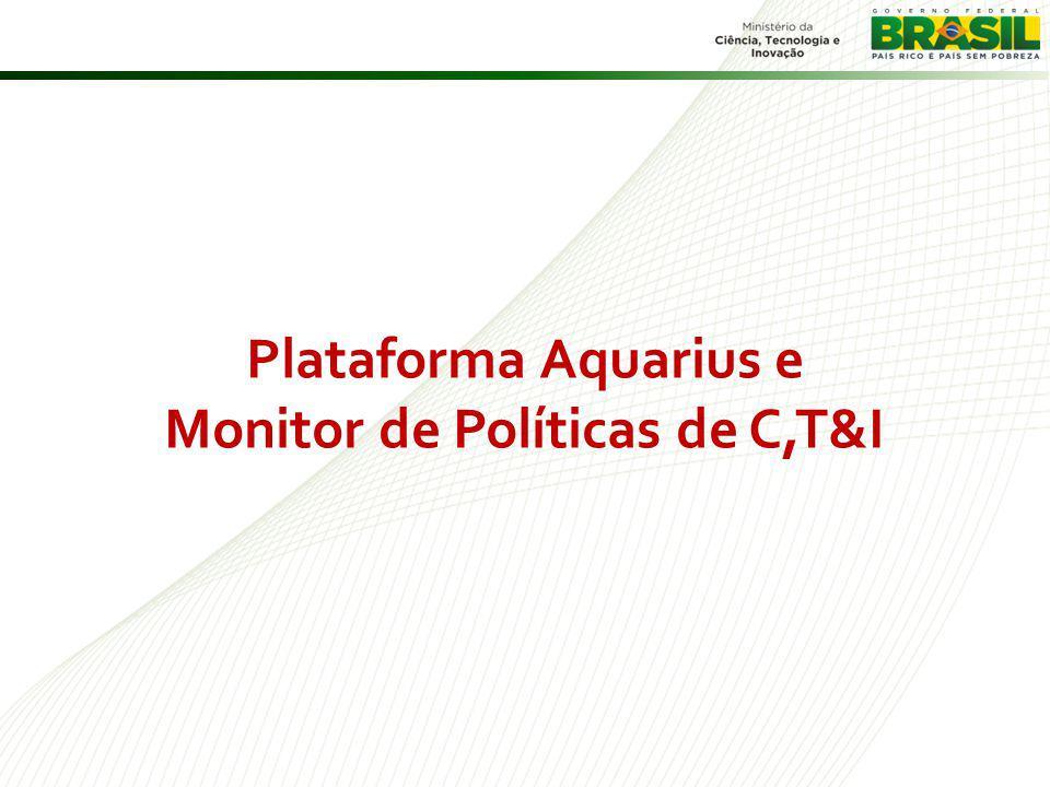 Plataforma Aquarius e Monitor de Políticas de C,T&I