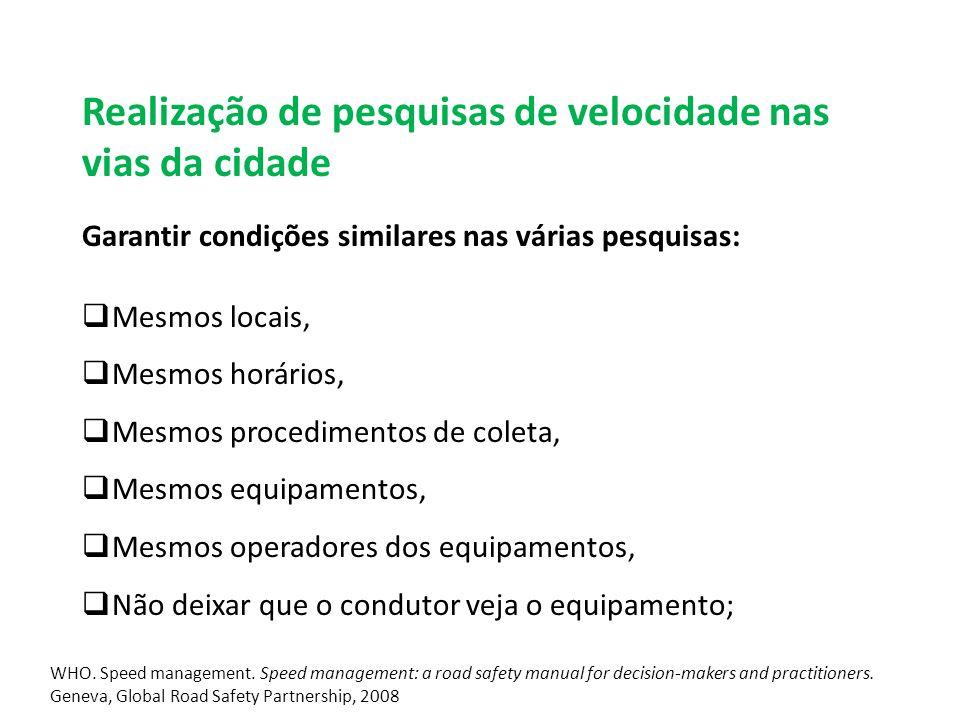 WHO.Beber e Dirigir: manual de segurança viária para profissionais de trânsito e saúde.