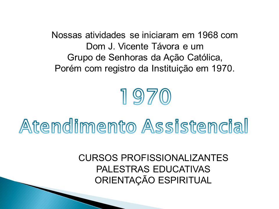 Nossas atividades se iniciaram em 1968 com Dom J.