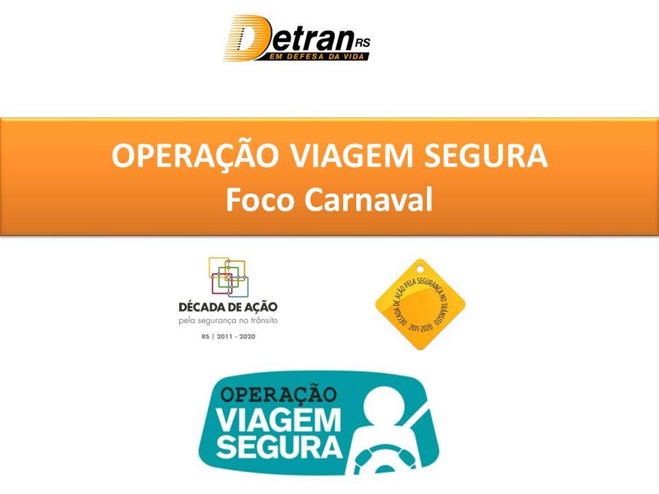 OPERAÇÃO VIAGEM SEGURA Foco Carnaval