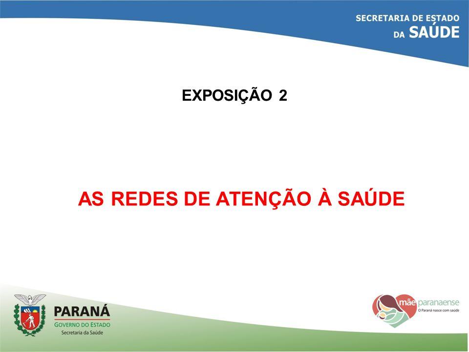 EXPOSIÇÃO 2 AS REDES DE ATENÇÃO À SAÚDE