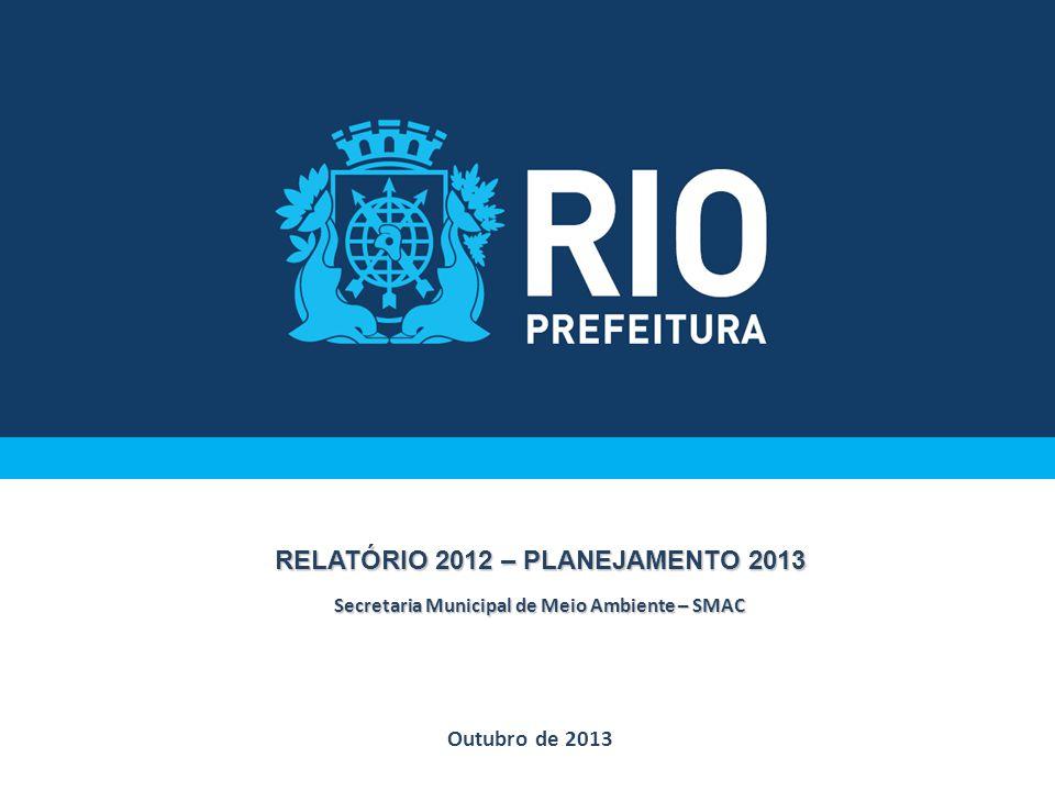 Outubro de 2013 RELATÓRIO 2012 – PLANEJAMENTO 2013 Secretaria Municipal de Meio Ambiente – SMAC