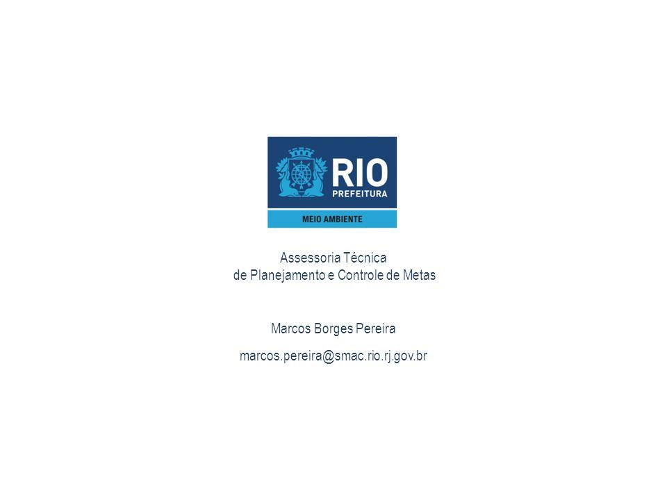 Assessoria Técnica de Planejamento e Controle de Metas Marcos Borges Pereira marcos.pereira@smac.rio.rj.gov.br