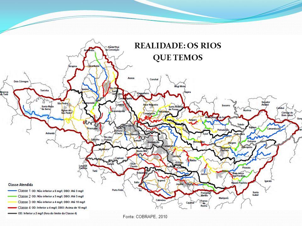 Fonte: COBRAPE, 2010 REALIDADE: OS RIOS QUE TEMOS