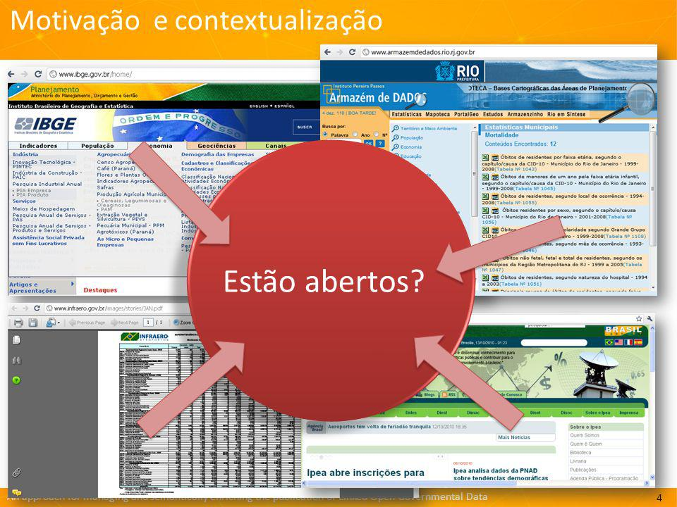 An approach for managing and semantically enriching the publication of Linked Open Governmental Data http://greco.ppgi.ufrj.br/gtlinkedbr/ Kelli de Faria Cordeiro 1, Fabricio Firmino de Faria 1, Bianca de Oliveira Pereira 1,2, André Freitas 2, Cristiano Expedito Ribeiro 1, João Vitor Villas Boas Freitas 1, Ana Christina Bringuente 3, Lucas de Oliveira Arantes 3, Rodrigo Calhau 3, Veruska Zamborlini 3, Maria Luiza Machado Campos 1, Giancarlo Guizzardi 3 1 Graduate Program in Informatics (PPGI) Federal University of Rio de Janeiro (UFRJ) – Brazil 2 Digital Enterprise Research Institute (DERI) National University of Ireland – Galway – Ireland 3 Ontology and Conceptual Modeling Research Group (NEMO) – Computer Science Department – Federal University of Espírito Santo (UFES) – Brazil