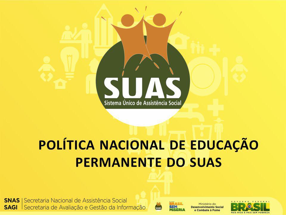 POLÍTICA NACIONAL DE EDUCAÇÃO PERMANENTE DO SUAS