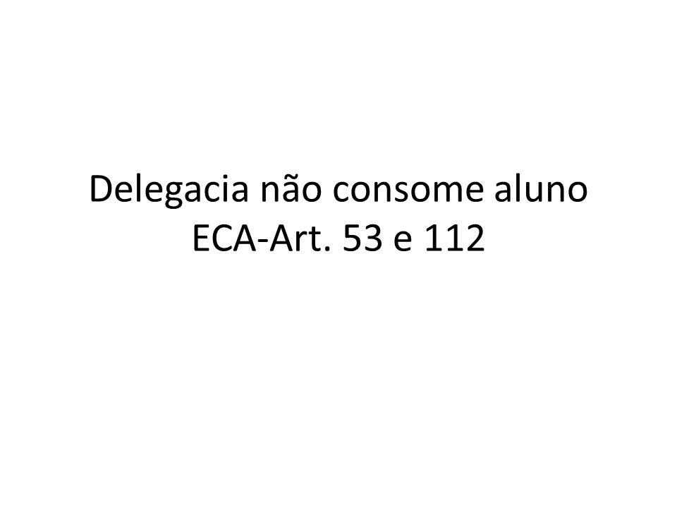 Delegacia não consome aluno ECA-Art. 53 e 112