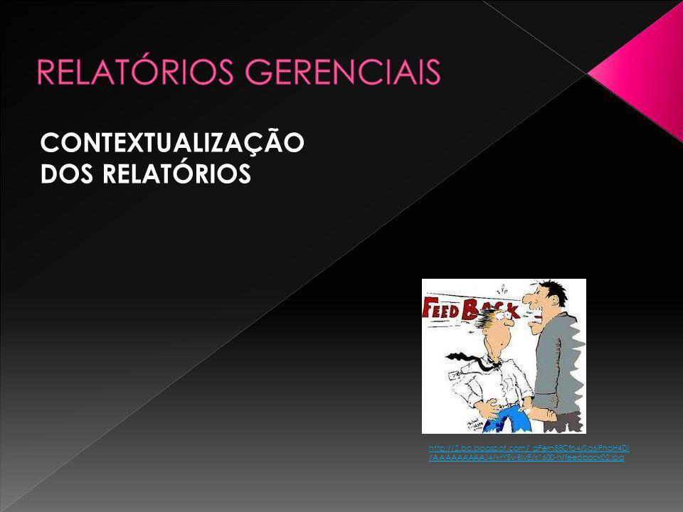 CONTEXTUALIZAÇÃO DOS RELATÓRIOS http://2.bp.blogspot.com/_gPern88Cfp4/Sa6iPhdH4DI /AAAAAAAAAJ4/I-rY5v-BlvE/s1600-h/feedback02.jpg