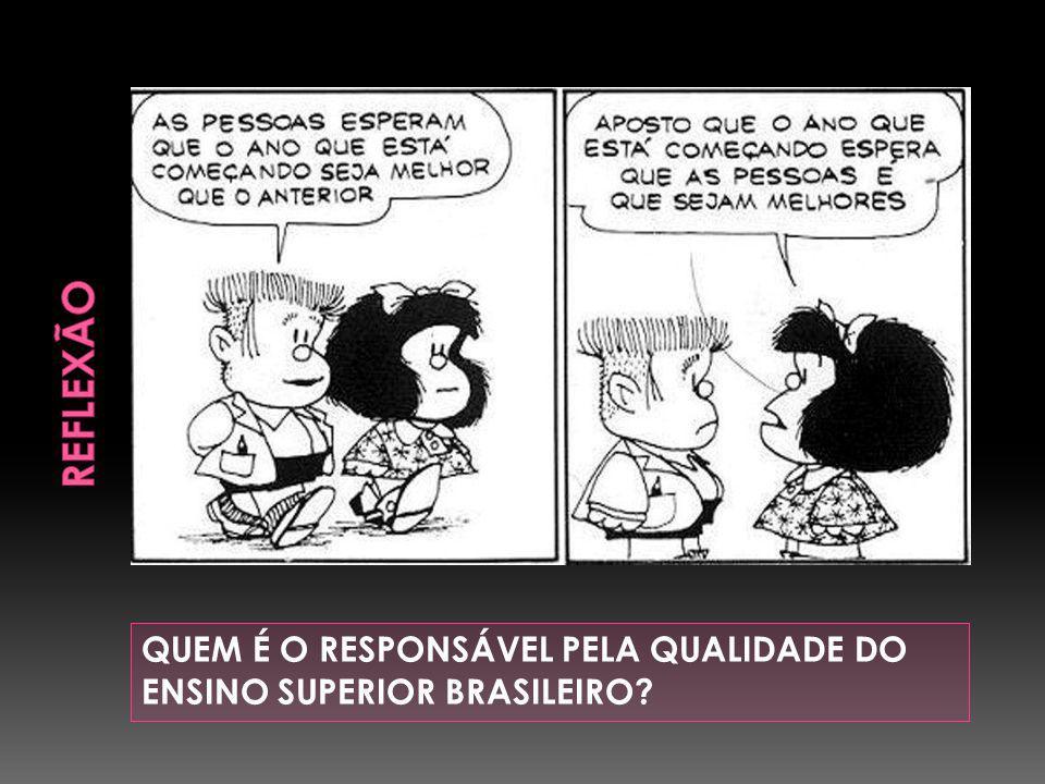 QUEM É O RESPONSÁVEL PELA QUALIDADE DO ENSINO SUPERIOR BRASILEIRO?