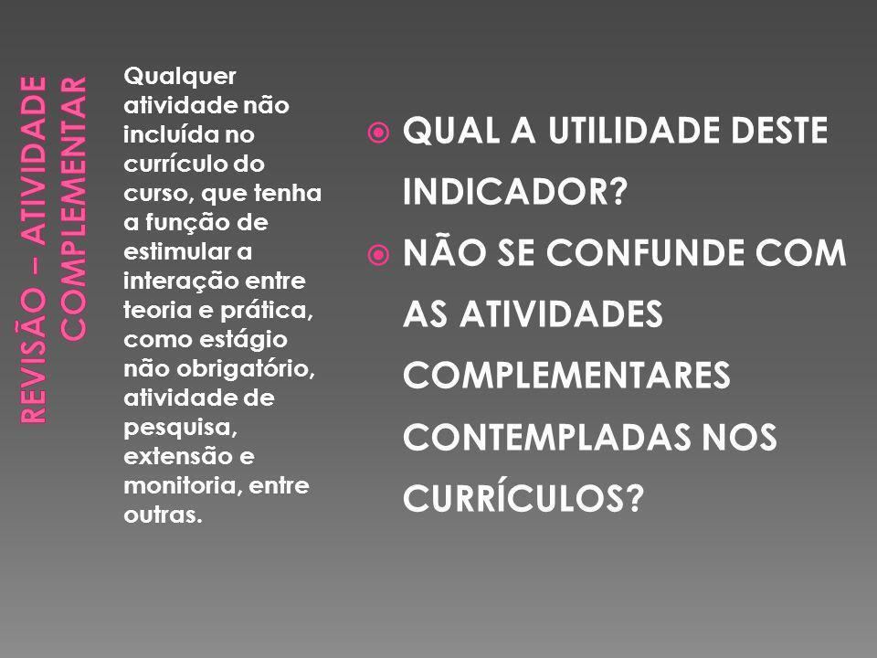 Qualquer atividade não incluída no currículo do curso, que tenha a função de estimular a interação entre teoria e prática, como estágio não obrigatório, atividade de pesquisa, extensão e monitoria, entre outras.